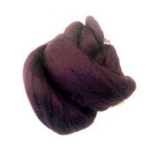 50g Pack of Aubergine Purple 23 Micron Merino Wool Tops